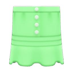まえボタンレースのスカート緑緑