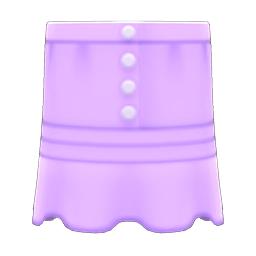 まえボタンレースのスカート紫紫