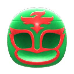 プロレスのマスク緑赤