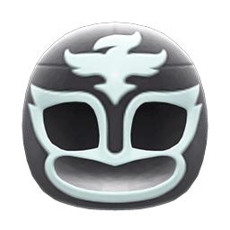 プロレスのマスク黒白