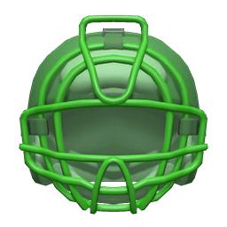 キャッチャーマスク緑緑