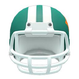 アメフトヘルメット緑白