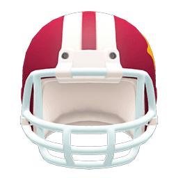 アメフトヘルメット赤白
