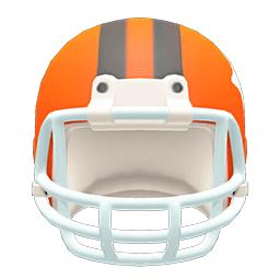 アメフトヘルメットオレンジ黒