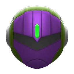 パワードメット緑紫
