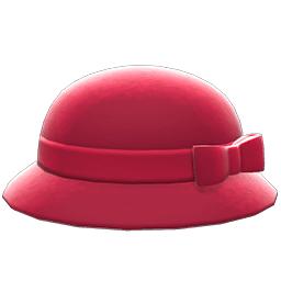リボンボーラーハット赤赤