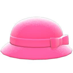 リボンボーラーハットピンクピンク