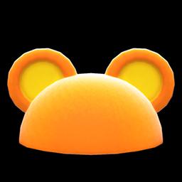 ハデなアニマルまるみみぼうオレンジ黄