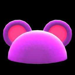 ハデなアニマルまるみみぼう紫ピンク