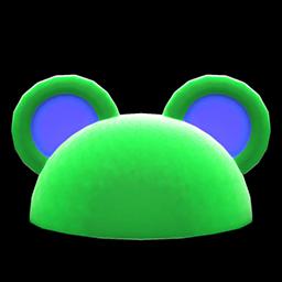 ハデなアニマルまるみみぼう緑青