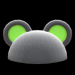 ハデなアニマルまるみみぼう黒緑