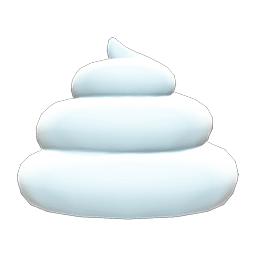 ソフトクリームなぼうし白白