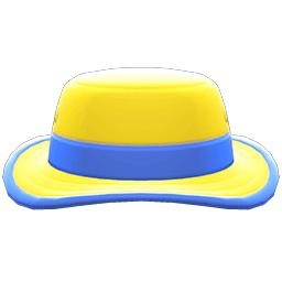 アウトドアハット黄青