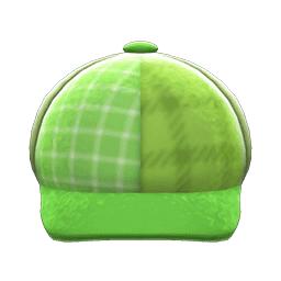 ツイードキャップ緑緑