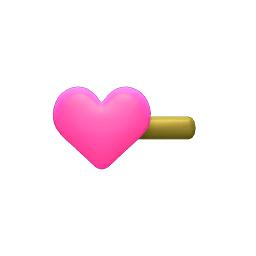 ハートのかみかざりピンク黄