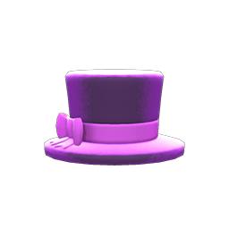 ちいさめシルクハット紫紫