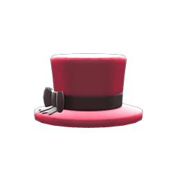 ちいさめシルクハット赤黒