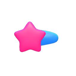 ほしのかみかざりピンク水