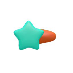 ほしのかみかざり緑オレンジ
