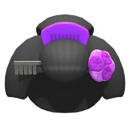 ゲイシャさん紫カラフル