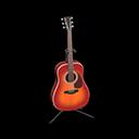 アコースティックギター赤黒