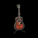 アコースティックギター茶黒