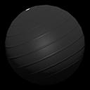 バランスボール黒黒