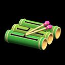 バンブードラム緑ピンク
