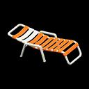ビーチベッドオレンジ白