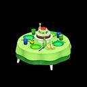 バースデーテーブル緑カラフル