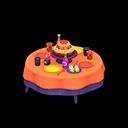 バースデーテーブルオレンジカラフル