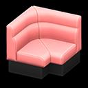 ボックスソファのコーナーピンク黒