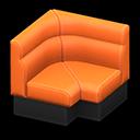 ボックスソファのコーナーオレンジ黒