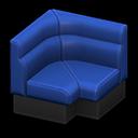ボックスソファのコーナー青黒