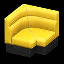 ボックスソファのコーナー黄黒