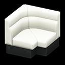 ボックスソファのコーナー白黒