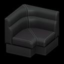 ボックスソファのコーナー黒黒