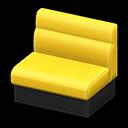 ボックスソファ黄黒