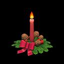 クリスマスキャンドル赤茶