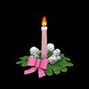 クリスマスキャンドルピンク白