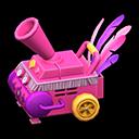 カーニバルなかみふぶきマシン紫ピンク