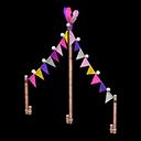 カーニバルなガーランド紫ピンク