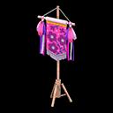 カーニバルなフラッグ紫ピンク