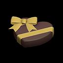 ハートのチョコレート黒黄