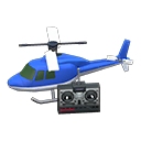 ラジコンヘリコプター青白