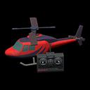 ラジコンヘリコプター赤黒
