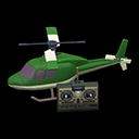 ラジコンヘリコプター緑白