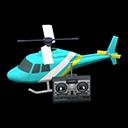 ラジコンヘリコプター水白