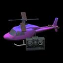 ラジコンヘリコプター紫黒