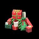 プレゼントのやま赤緑